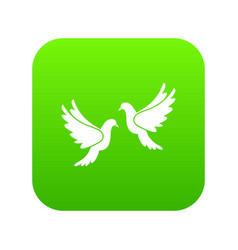 wedding doves icon digital green vector image