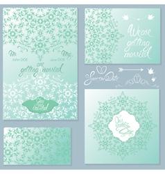 wedding invitation set 2 380 vector image
