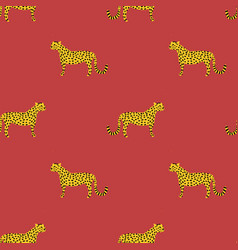 wild cats seamless pattern leopards vector image