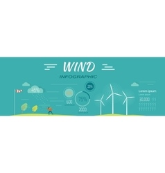 Wind infographics windmills meteorology windsock vector