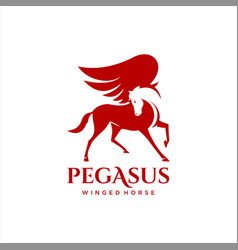 Winged horse pegasus simple vector