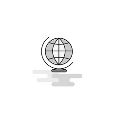 world globe web icon flat line filled gray icon vector image