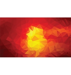 yellow red abstract low poly background vector image