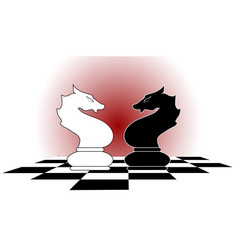 chess horses vector image