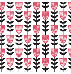 geometric flower vector image vector image