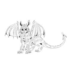 Graphic cub dragon vector image