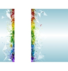 Paint splashes triangular background for poster vector image vector image