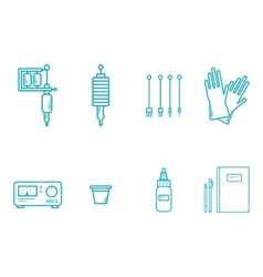 Tattoo Equipment Icon Set vector image