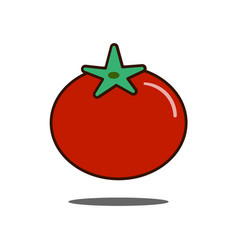 tomato icon filled outline sign linear vector image vector image