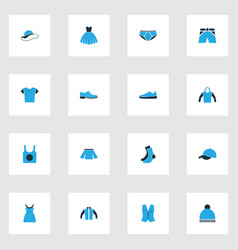 Clothes colorful icons set collection of evening vector