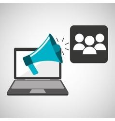 marketing digital group concept vector image