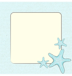 Starfis on a blue border background vector