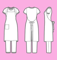 Womens clothing set vector image vector image