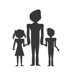 dad family children vector image vector image