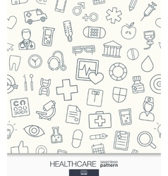 Healthcare wallpaper Medical seamless pattern vector image