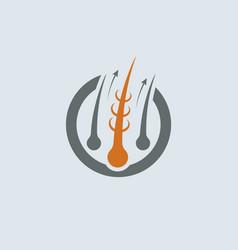 strengthening of hair gray-orange icon vector image