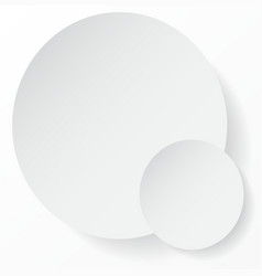 White circle abstract background with shadows for vector image