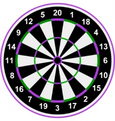 classical darts vector image vector image