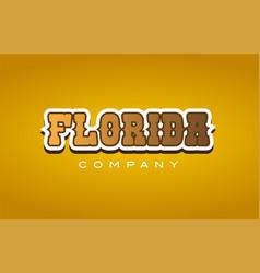 Florida western style word text logo design icon vector