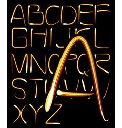 light alphabet vector image vector image