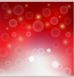 light bubble bokeh on red background vector image vector image