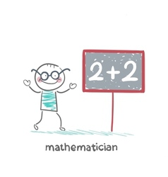 mathematician wrote in pencil task vector image