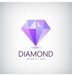 purple diamond icon logo isolated Fashion vector image vector image