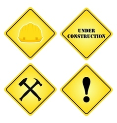Set of signs under construction Flat style for vector image