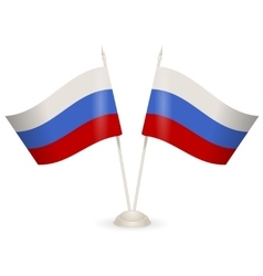 Table stand with flags of Russia vector image vector image