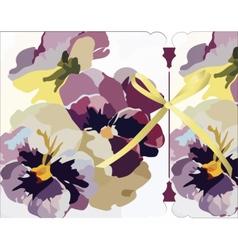 Vintage Watercolor Greeting Card vector image