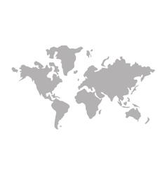 world map icon design vector image