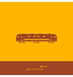 A train icon in flat style vector image