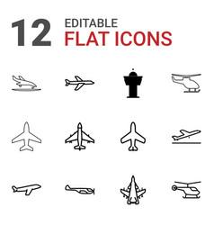 Aircraft icons vector