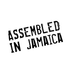 Assembled in Jamaica rubber stamp vector
