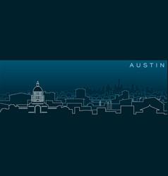 Austin multiple lines skyline and landmarks vector