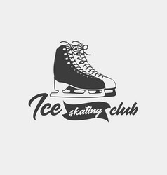badge template for ice skating club vector image