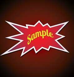 Bang label vector image