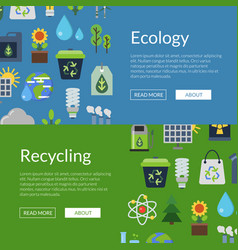 banners with ecology flat vector image