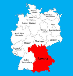 Bavaria state map germany province silhouette vector