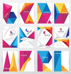 big set collection of trendy geometric triangular vector image