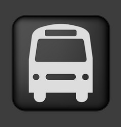 black bus icon vector image