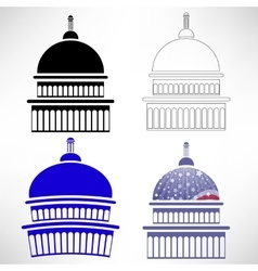 Capitol Icons vector