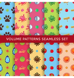 Colored seamless blobs drops pattern vector image