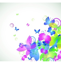 Colorful abstract background with butterfly vector