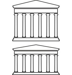 contours of portico colonnade vector image