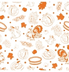 Cornucopia Thanksgiving Pumpkin Turkey Corn vector