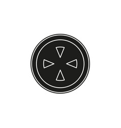 crosshairs icon - target aim sniper symbol vector image