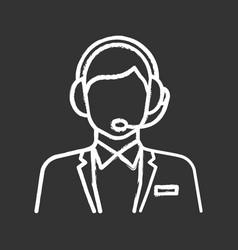 Customer support chalk icon vector