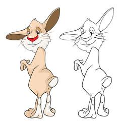 Cute rabbit cartoon character vector
