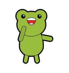 Cute toad cartoon vector